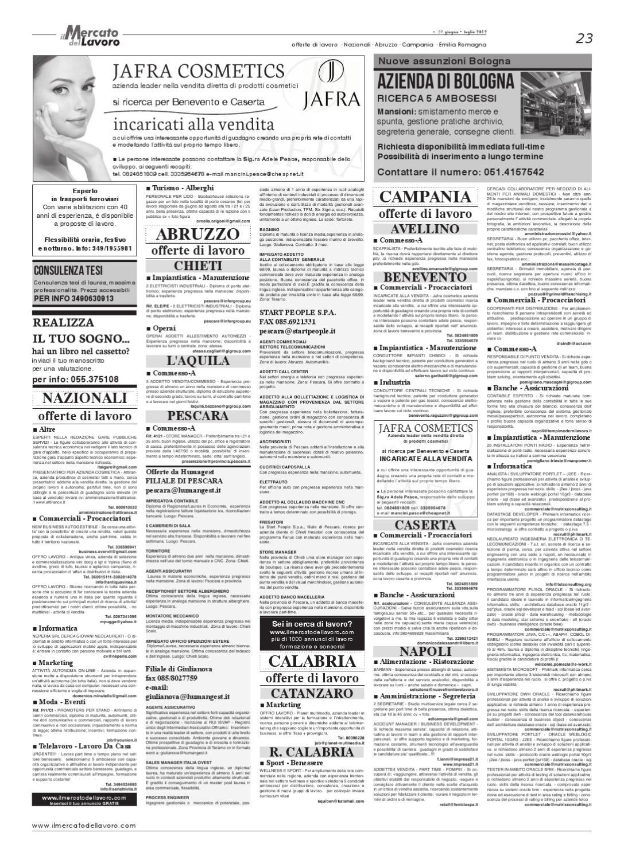 Il Mercato Del Lavoro N 59 By Curiosando Editore Srl Issuu