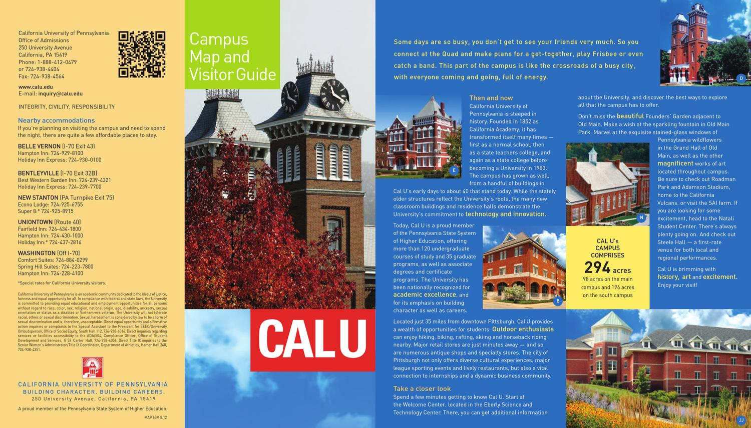 California University Of Pa Campus Map.California University Pennsylvania Campus Map