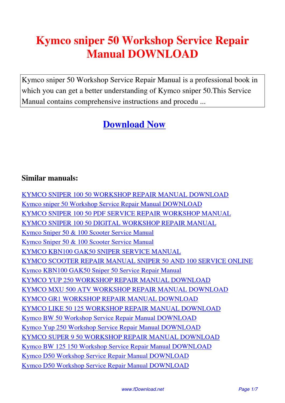 kymco manual download