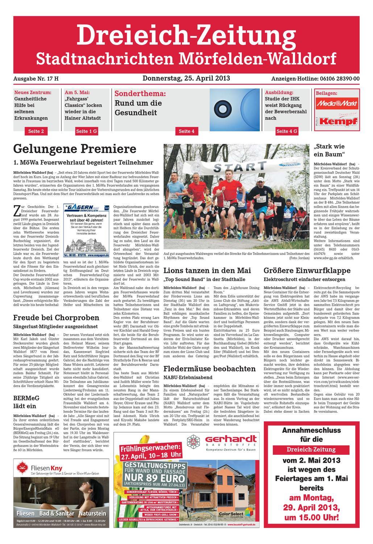 Dz Online 017 13 H By Dreieich Zeitung Offenbach Journal Issuu
