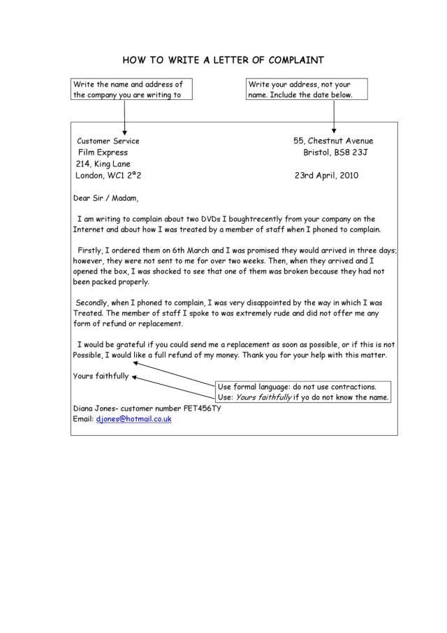 how to write a letter of complaint by Paula Gómez - issuu
