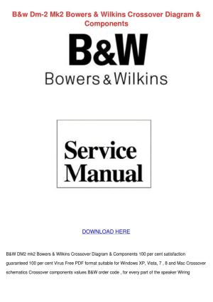 Bw Dm 2 Mk2 Bowers Wilkins Crossover Diagram by