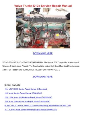 Volvo Trucks D12c Service Repair Manual by LouisaKerr  Issuu