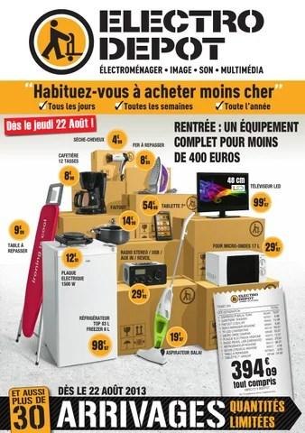 catalogue electro depot valable des