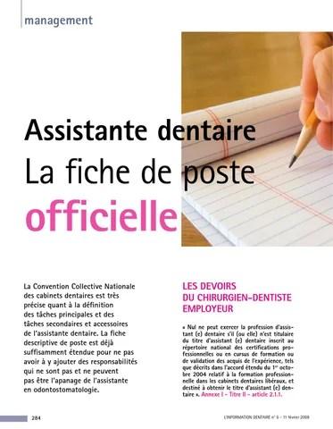 page 1 management assistante dentaire