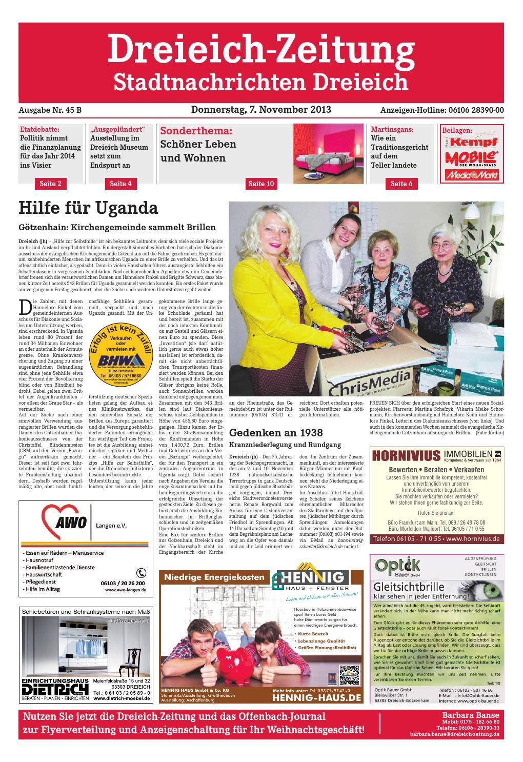 Dz Online 045 13 B By Dreieich Zeitung Offenbach Journal Issuu