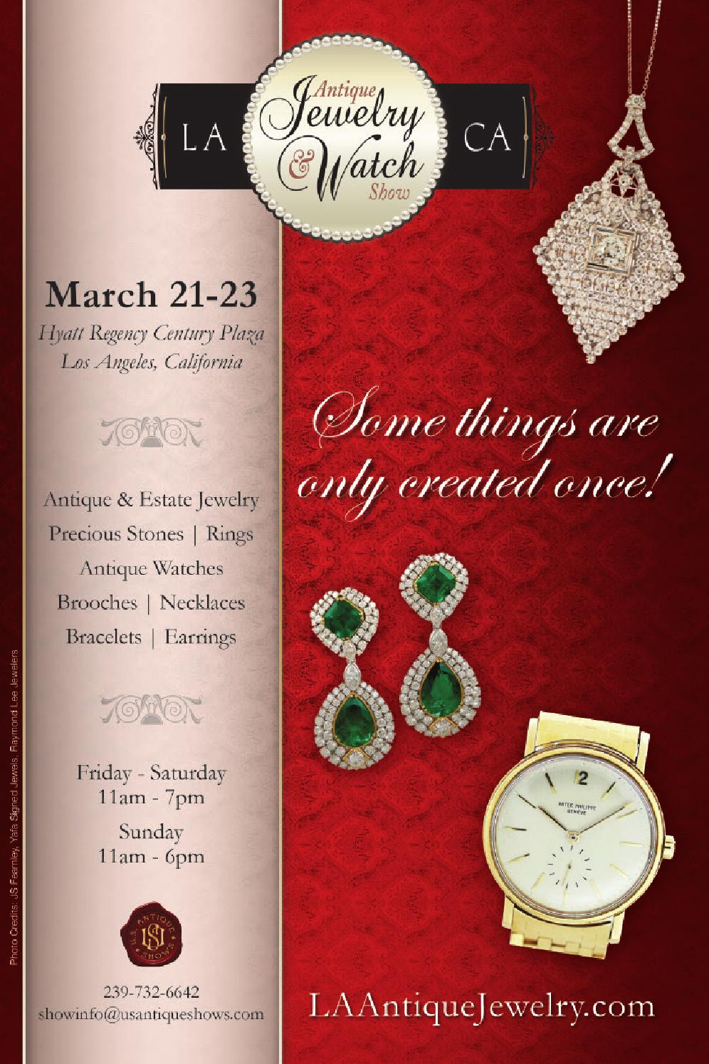 2014 LA Antique Jewelry Amp Watch Show Directory By US