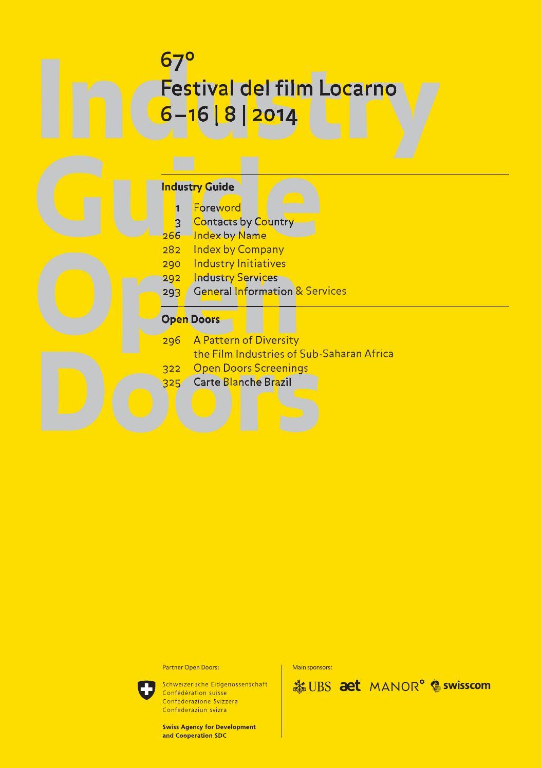 Industry Guide 67 Festival Del Film Locarno By Festival Del
