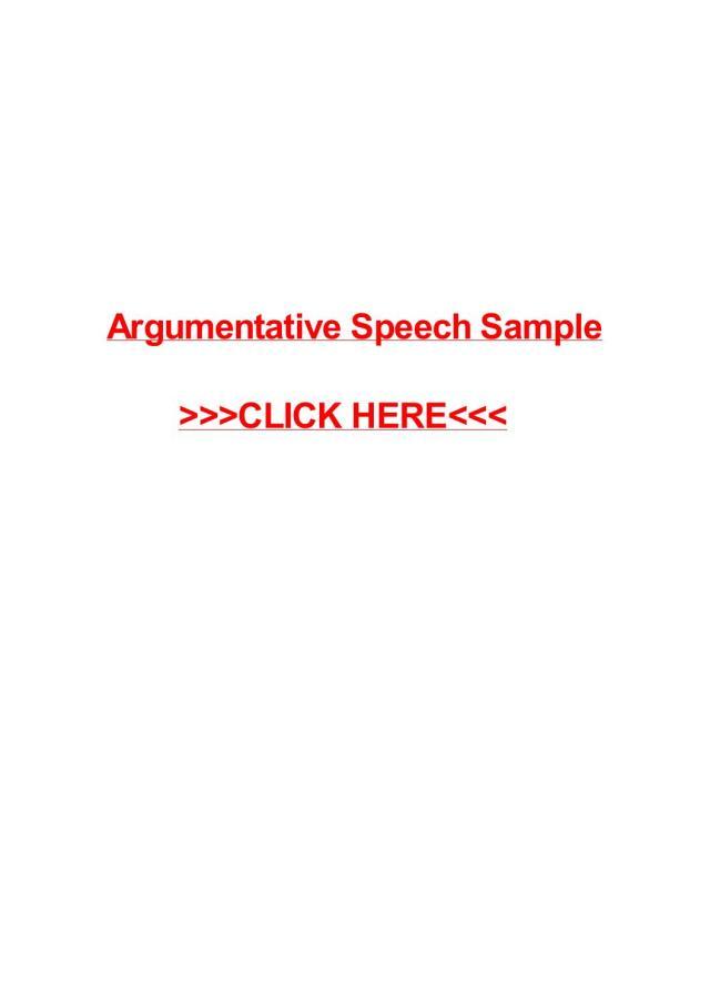 Argumentative speech sample by May Pilon - issuu