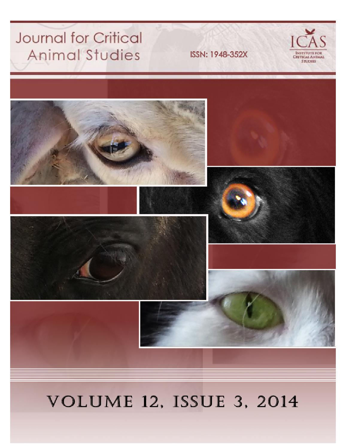 Jcas Volume 12 Issue 3 2014 By Icas Critical Animal Studies Issuu