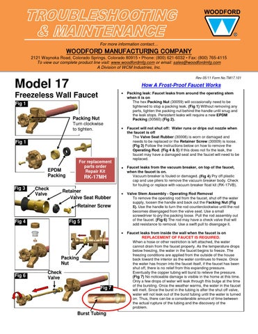woodford model 17 troubleshooting by