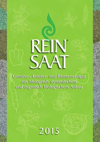 Reinsaat Saatgut Katalog 2015 By Reinsaat Issuu