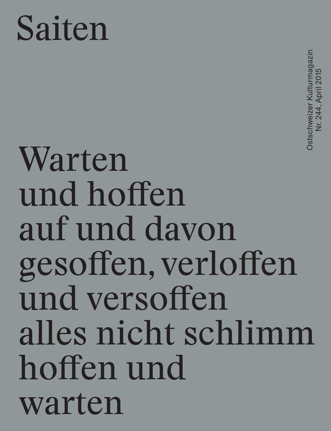 N 244 Warten Und Hoffen By Kulturmagazin Saiten Issuu