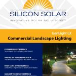 Silicon Solar Brochure Genlight Lx Commercial Solar Landscape Lighting By Silicon Solar Issuu