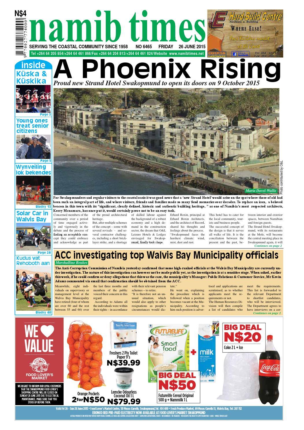 26 June Namib Times E Edition By Namib Times Virtual Issuu
