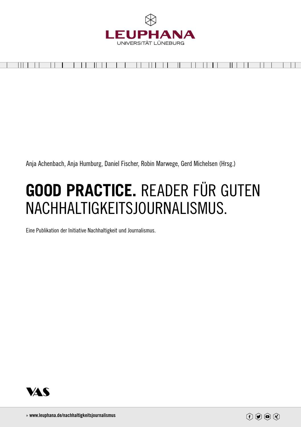 Good Practice Reader Fur Guten Nachhaltigkeitsjournalismus By
