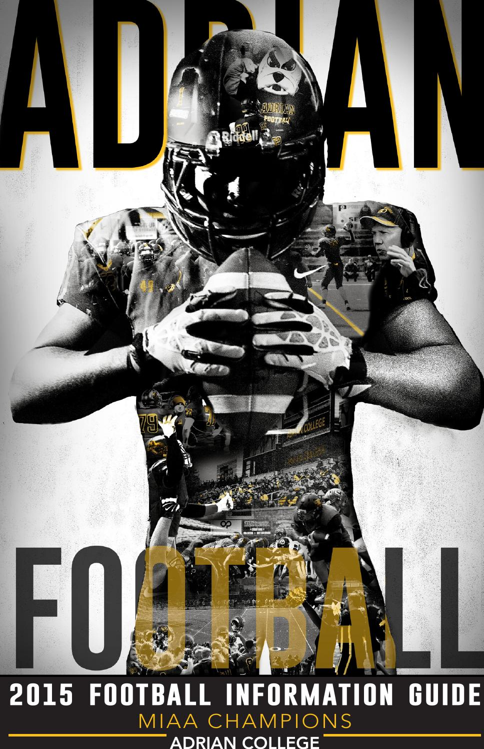 2015 Adrian College Football Media Guide By Adrian Sports