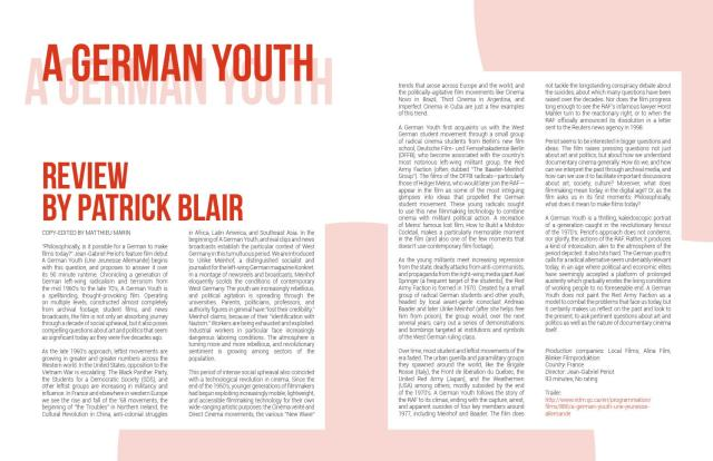 A German Youth - Review by Patrick Blair by Afterimages - issuu