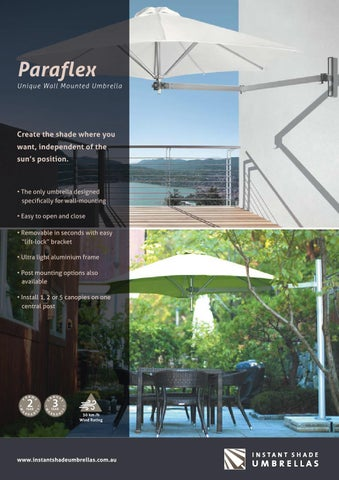 paraflex umbrellas for your patio