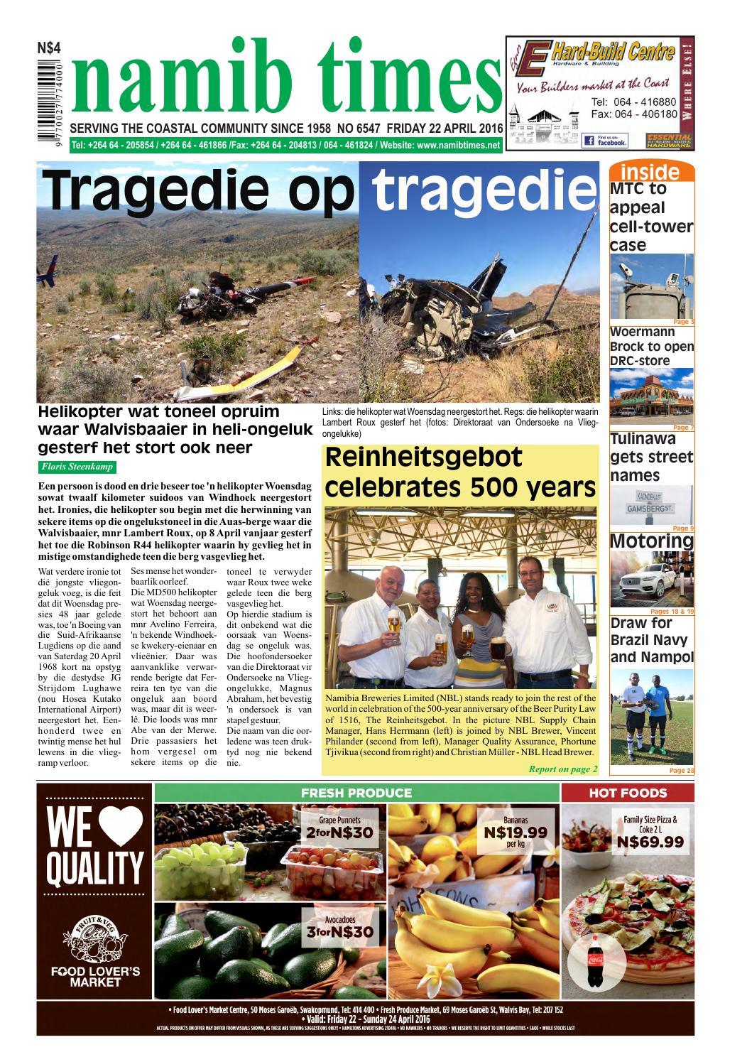 22 April Namib Times E Edition By Namib Times Virtual Issuu