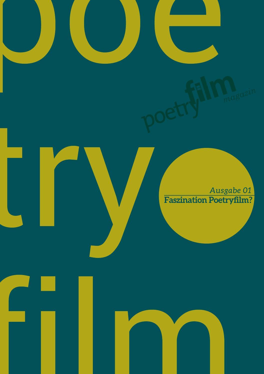 Poetryfilm Magazin Ausgabe 01 By Poetryfilmkanal Issuu