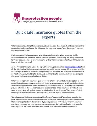 Whole Life Insurance Quotes Online   The Documents In Our Library Are Free  Download For Personal Use. Feel Free To Download Our Modern, Editable And  ...