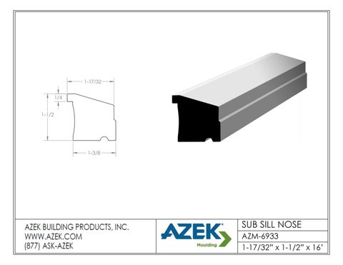 Azek Moulding Sub Sill Nose AZM 6933 Specifications By TimberTown Issuu