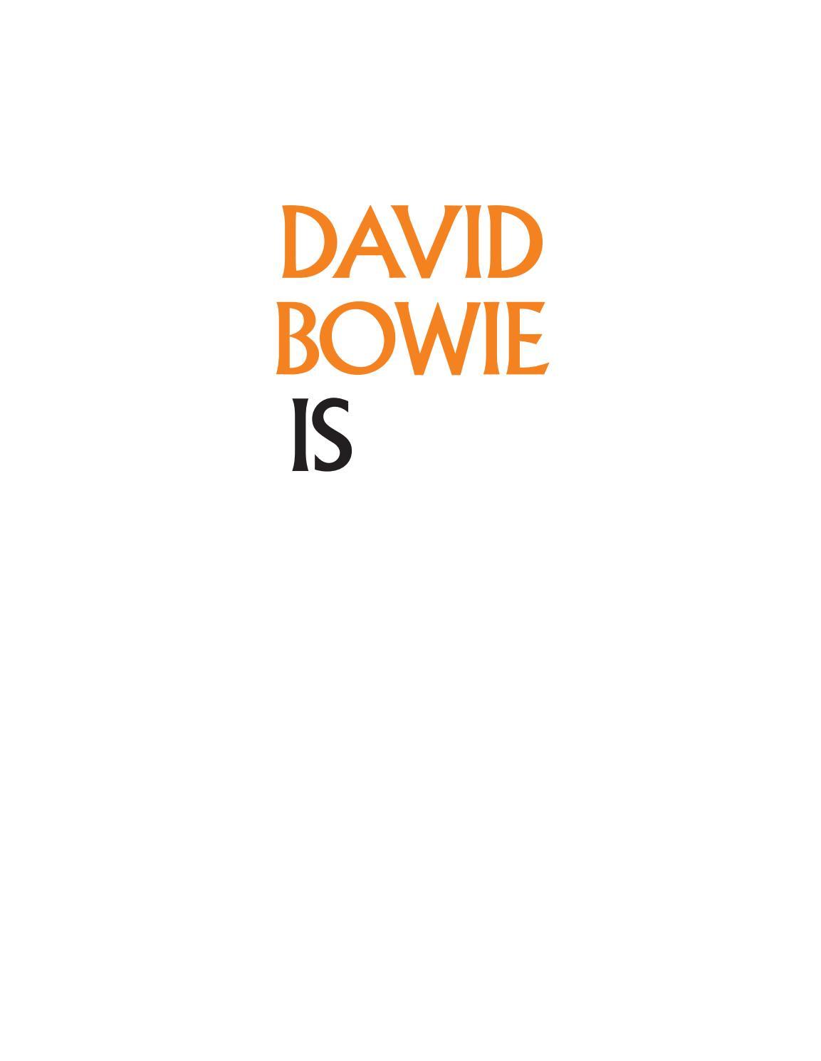 David Bowie Is By Sensorama Issuu
