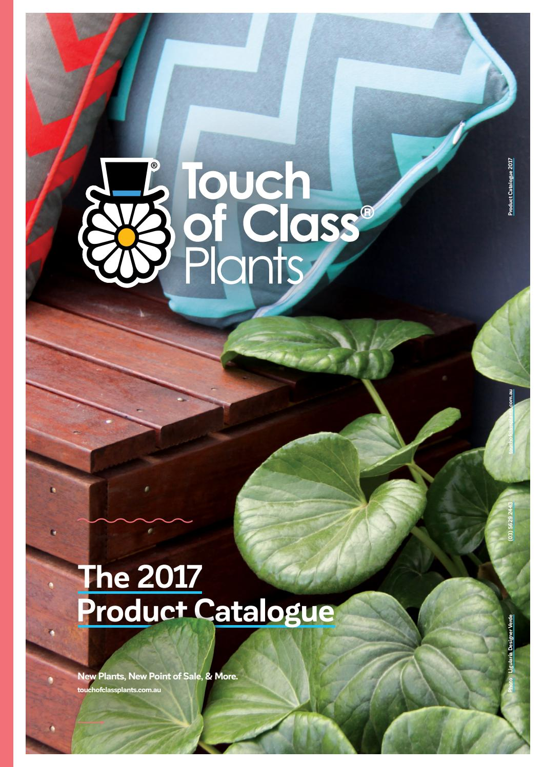 Touch Of Class Plants Product Catalogue 2017 By Touch Of Class