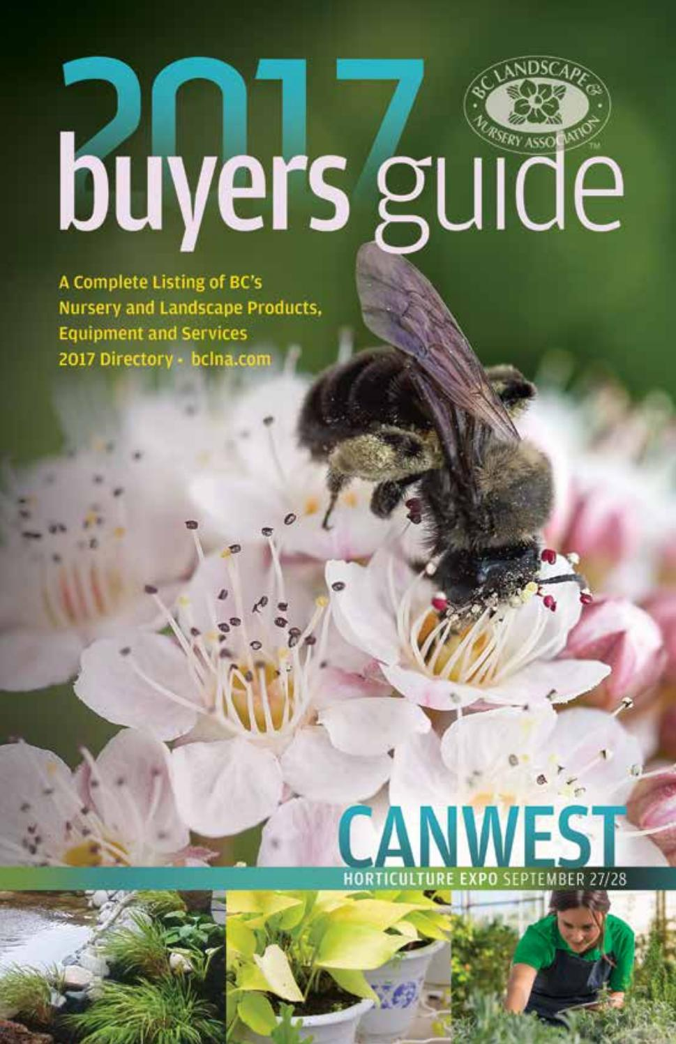Bc Landscape Nursery Association Buyers Guide Directory 2017