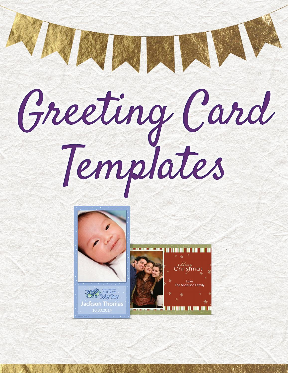 Greeting Card Templates By Digital Event Pics Issuu