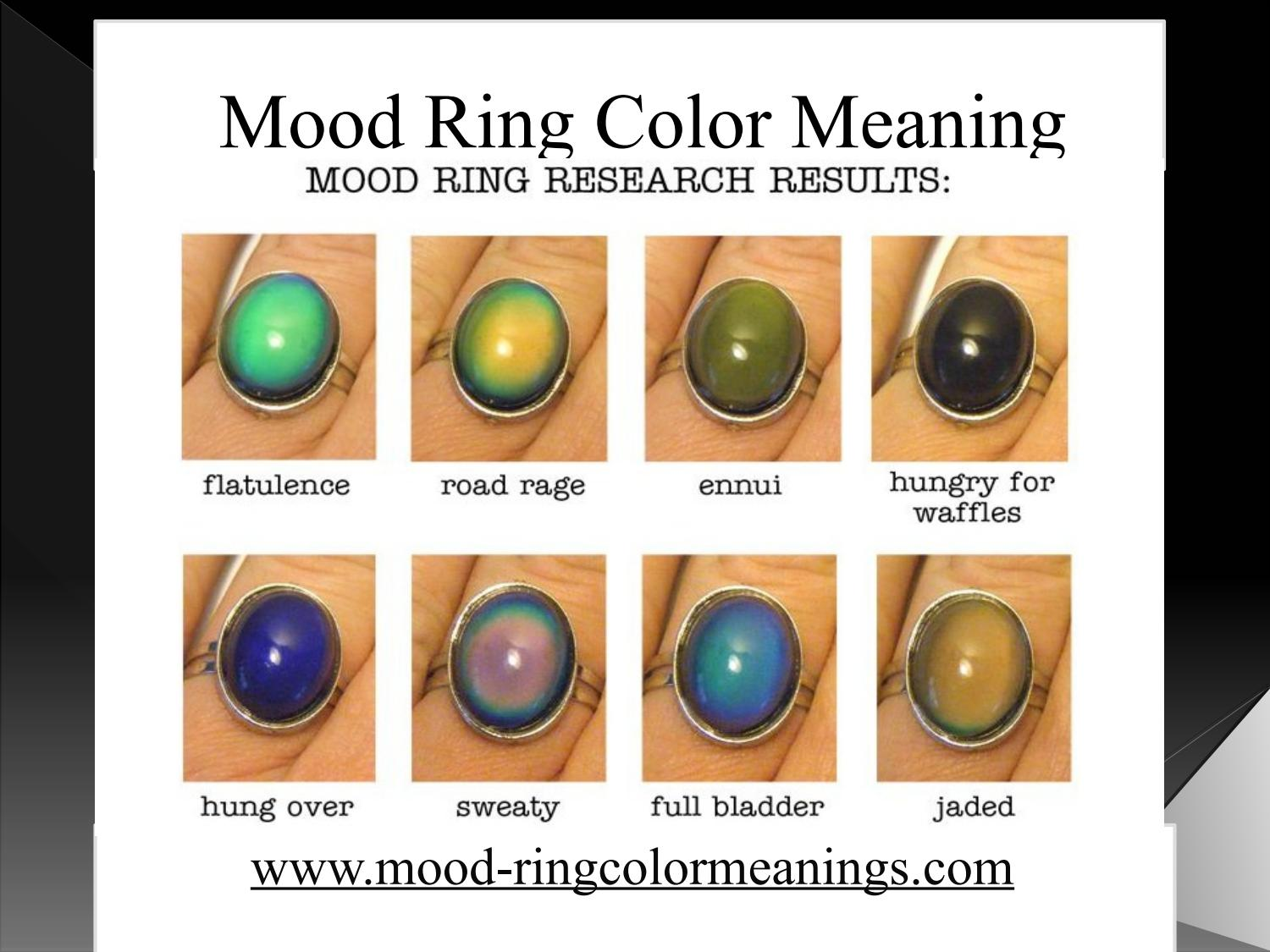 Mood Rings And Mean What Colors