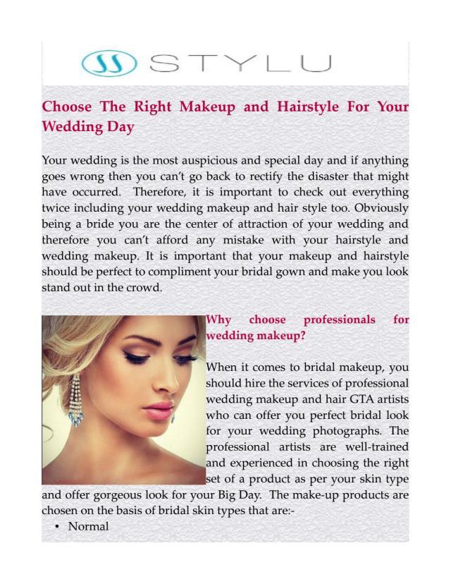 wedding makeup and hair gta by gostylu - issuu