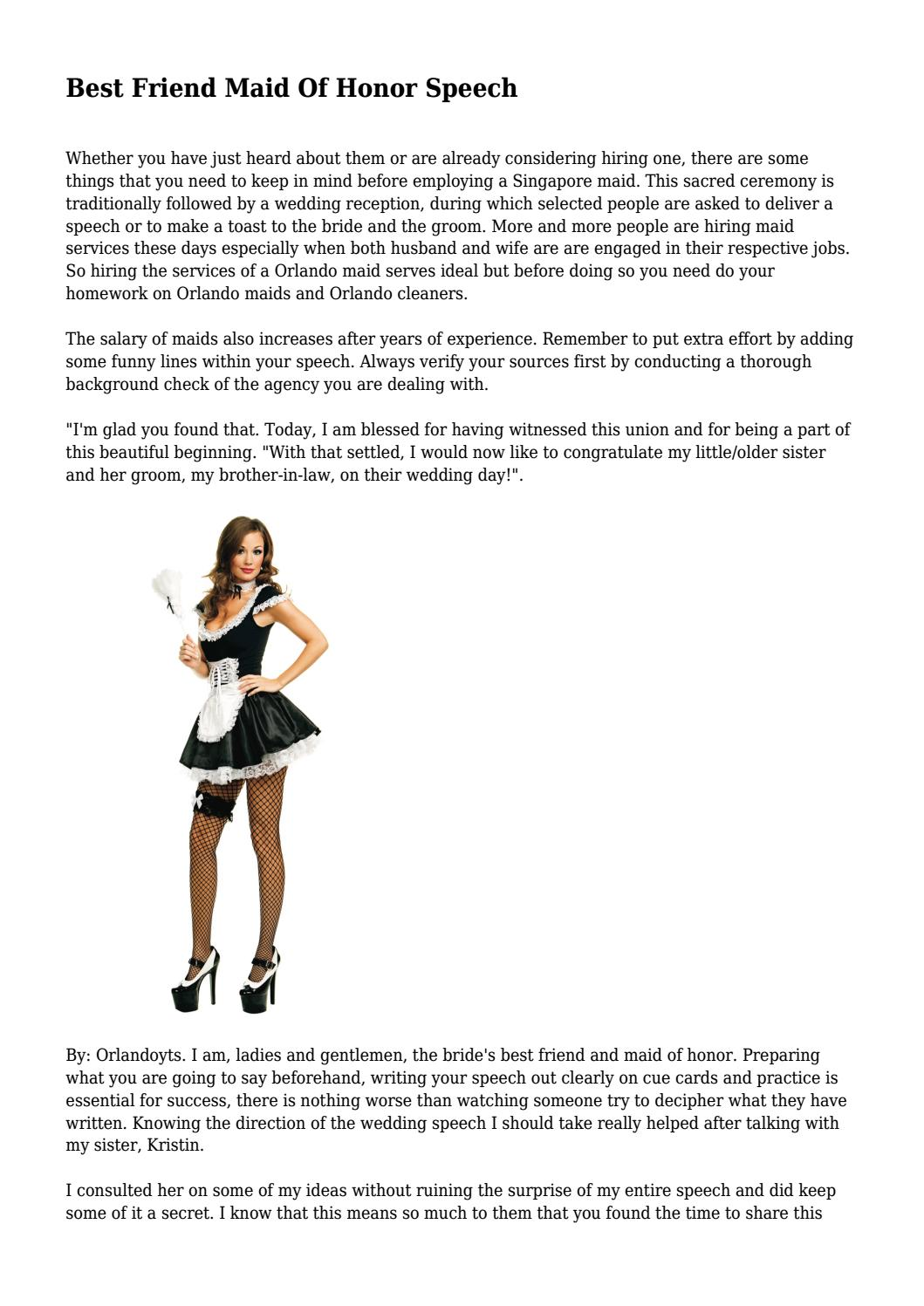 Funny Maid Honor Speeches Best Friend