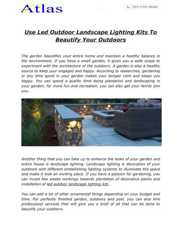 use led outdoor landscape lighting kits