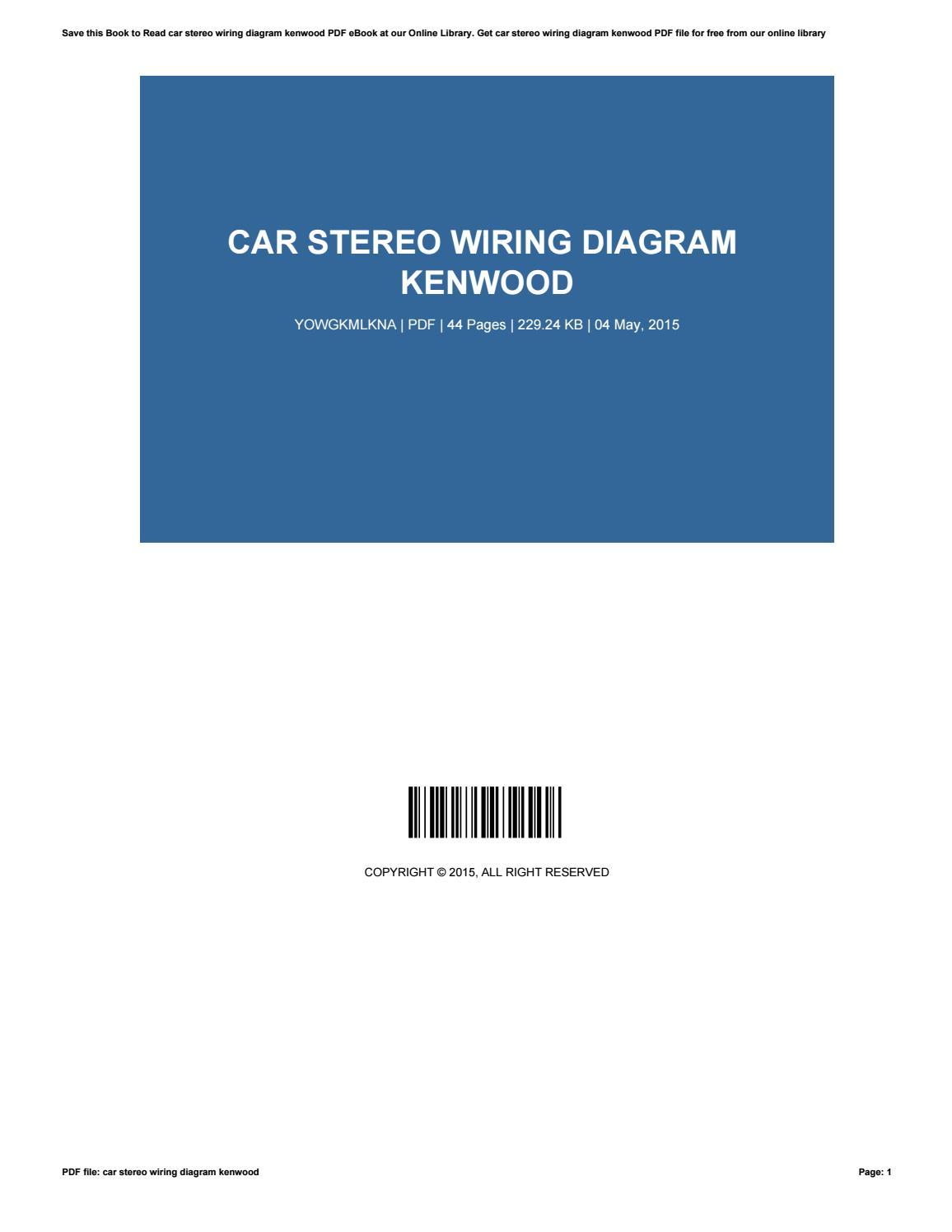 100 Kenwood Car Stereo Wiring Harness Diagram – Kenwood Wiring Diagram Pdf