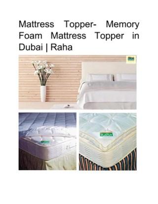 Mattress Topper Memory Foam In Dubai Raha