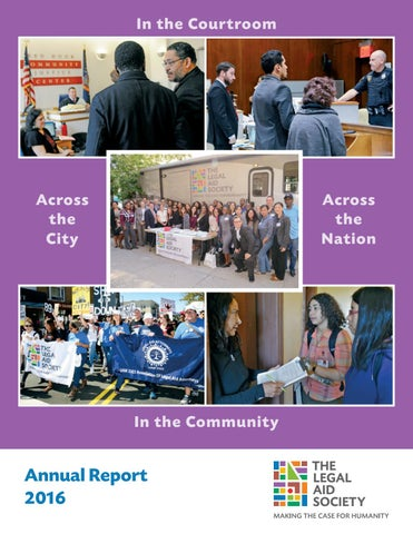 The Legal Aid Society 2016 Annual Report By The Legal Aid Society Issuu