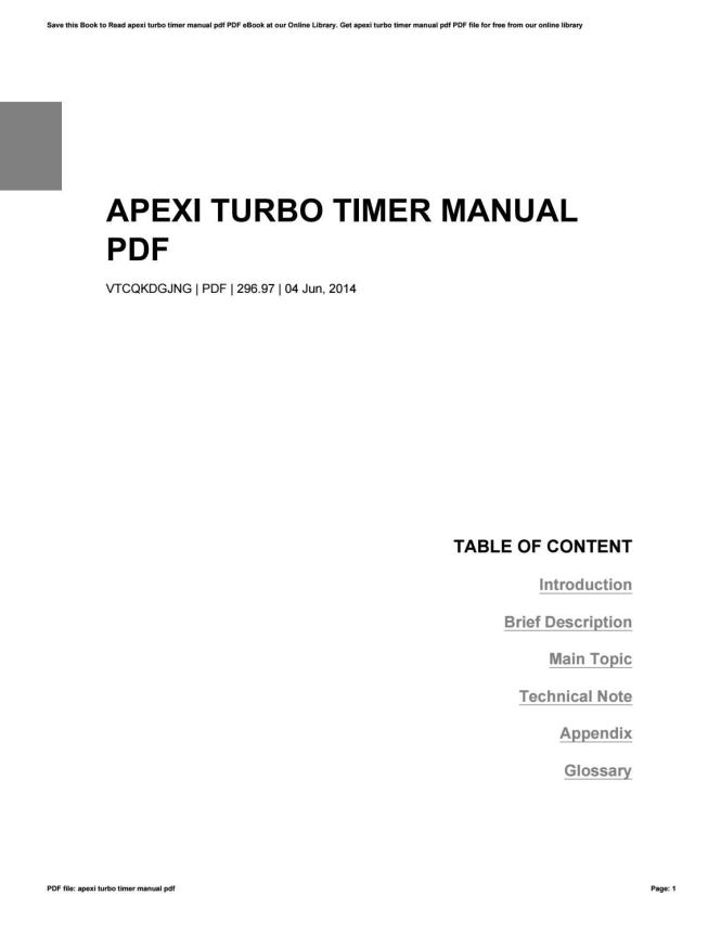Unusual Apexi Turbo Timer Wiring Contemporary - Wiring Diagram Ideas ...