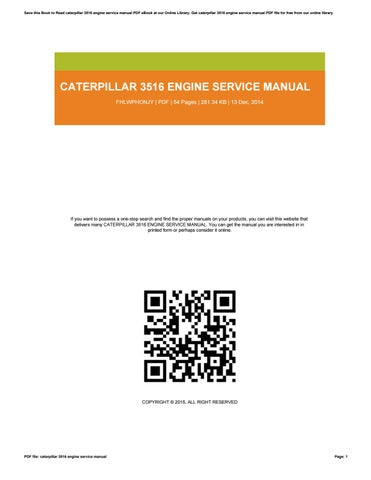free caterpillar engine manuals online # 38