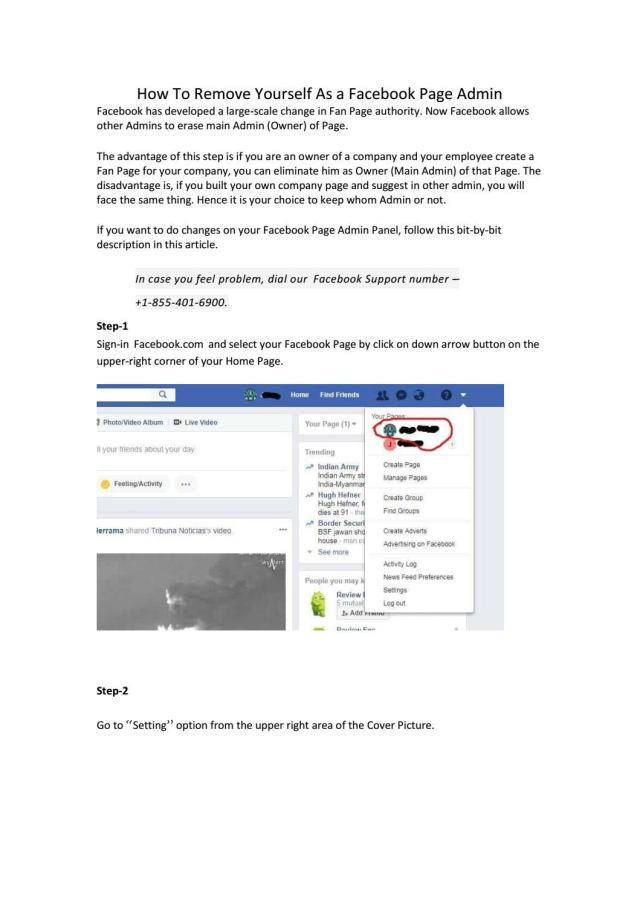 How to remove yourself as a facebook page admin by me.denmarkseo