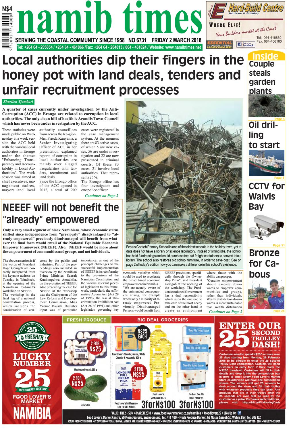 02 March Namib Times E Edition By Namib Times Virtual Issuu