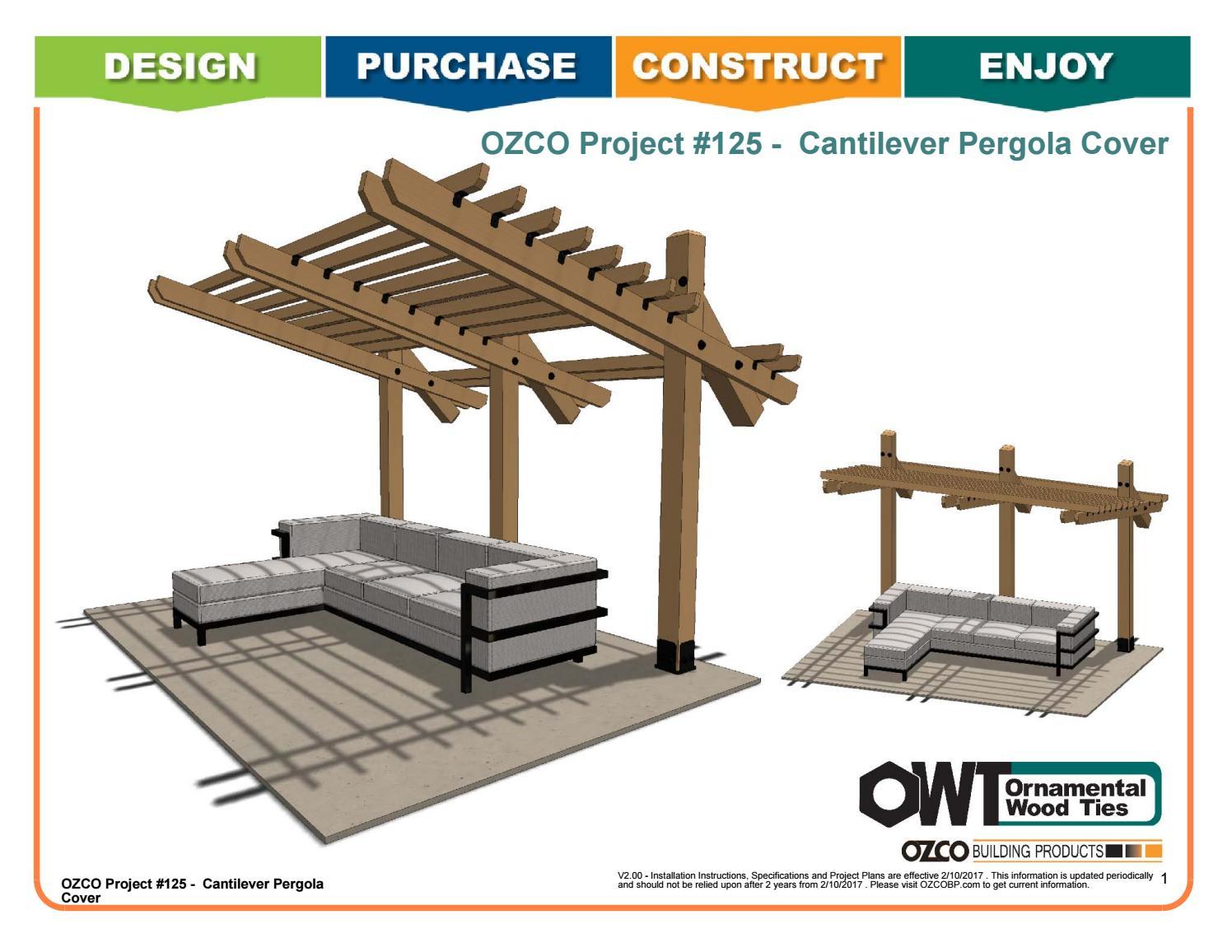 Ozco Project 125 Cantilever Pergola Cover By Ozco