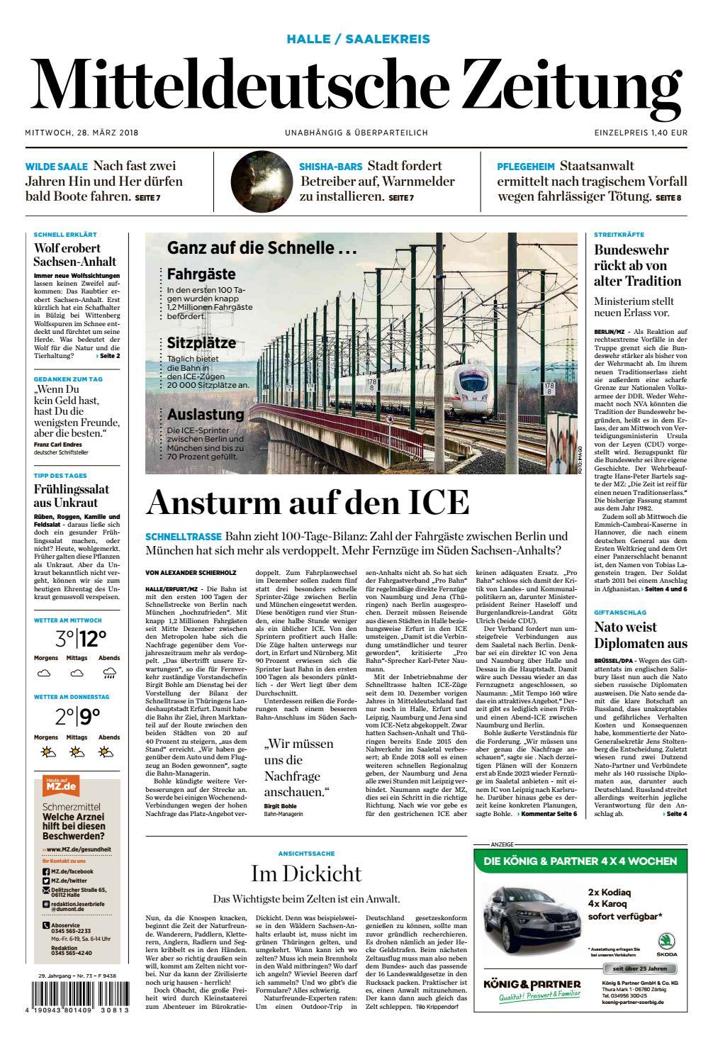 Mz Saalekurier Ausgabe 28 03 2018 By Mediengruppe Mitteldeutsche