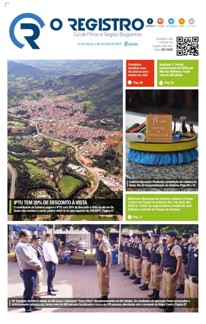 Jornal O Registro 465 By Lyvia Dayko Issuu
