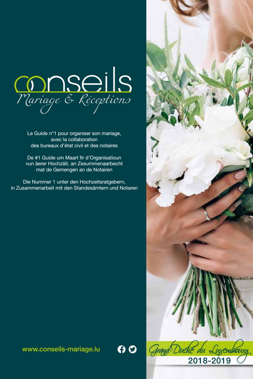 Guide Conseils Mariage Receptions Grand Duche De Luxembourg By