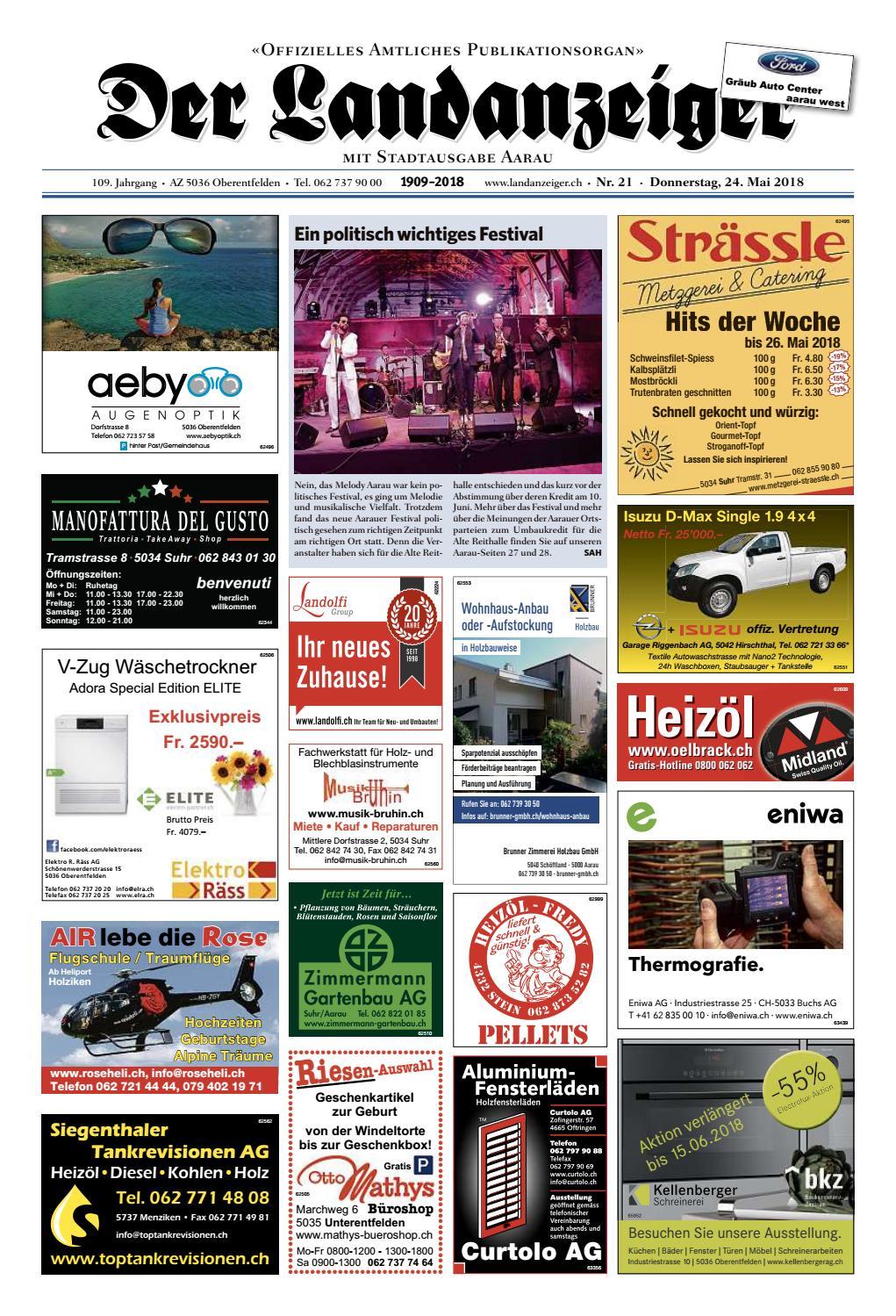Der Landanzeiger 21 18 By Zt Medien Ag Issuu