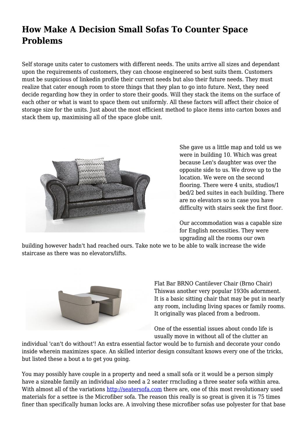 How Make A Decision Small Sofas To Counter Space Problems By Nextsuccessall Issuu