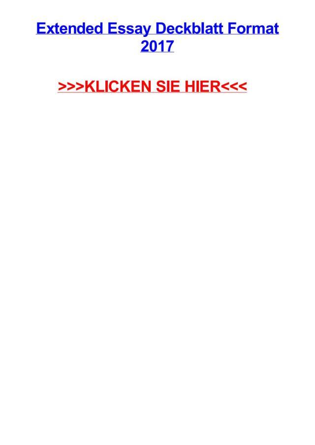 Extended essay deckblatt format 27 by williamkjdv - issuu