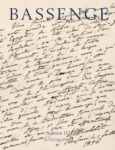 Bassenge Buchauktion 112 Autographen By Galerie Bassenge Issuu